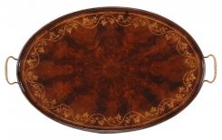 Jonathan Charles Oval Serving Tray Georgian