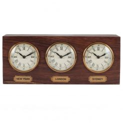 Pacific Lifestyle Clock 3 Time Zones