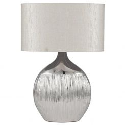 Pacific Lifestyle Table Lamp Scratched Ceramic Metallic
