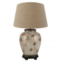 Pacific Lifestyle Table Lamp Small Urn Butterflies with Shade by Jenny Worrall