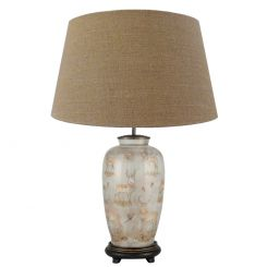 Pacific Lifestyle Table Lamp Tall Urn Deer with Shade by Jenny Worrall