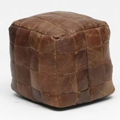 Carlton Furniture Bean Bag Cube in Cerato Leather