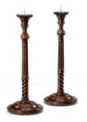 Jonathan Charles Pair of Candlesticks Fluted