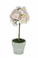 Pavilion Flowers Pale Pink Artificial Mini Cherry Blossom Tree Height 23cm