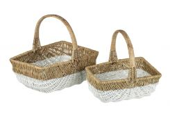 Parlane Basket Hollander Willow Set of 2 Height 40cm