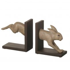 Parlane Bookends Hare Brown H.15cm