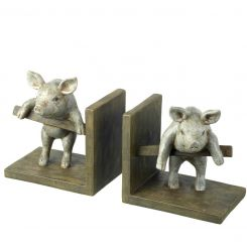 Parlane Bookends Piggy Grey H14 x W31cm