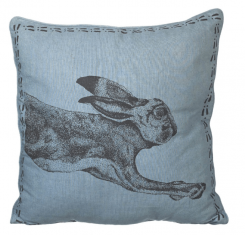 Parlane Cushion Hare 40 X 40 Cm Cotton Blue And Black