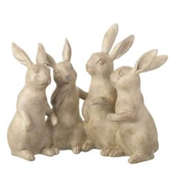 Parlane Decorative Rabbits Quartet Brown Height 20cm