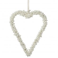 Parlane Hanging Heart Pearl Beads White Height 23cm