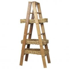 Parlane Ladder W/3 Willow Baskets Height 183cm