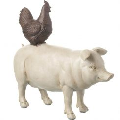 Parlane Pig & Chicken Brown/Cream Height 20cm
