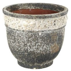 Parlane Planter Shore Ceramic Grey Height 28cm