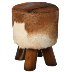 Parlane Stool With Hide Top Goat Height 46cm