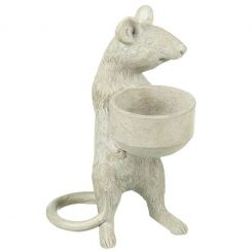 Parlane Tealight Holder Mice Grey - A