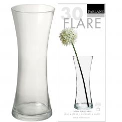Parlane Vase Flared Clear Glass