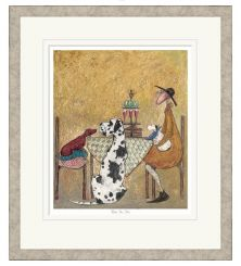 Pavilion Art Pass the Cake By Sam Toft - Remarked & Limited Edition Framed Print