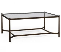 Jonathan Charles Coffee Table Contemporary with Glass Top