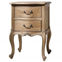Pavilion Chic Bedside Table Chic Bamako in Weathered Wood