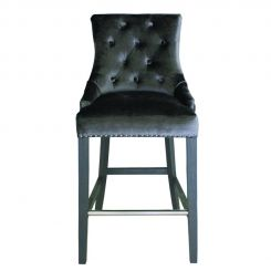 Pavilion Chic Belvedere Knockerback Bar Chair in Velvet