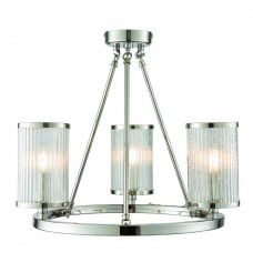 Pavilion Chic Ceiling Light Dorus in Frosted Glass
