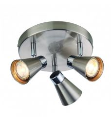 Pavilion Chic Ceiling Light Round Sappho in Silver