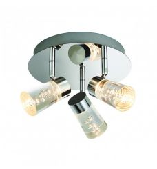 Pavilion Chic Ceiling Light Round Erebus in Bubble Glass
