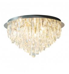Pavilion Chic Ceiling Light Athena with Drop Crystals