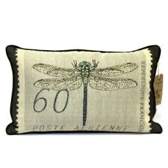Pavilion Chic Cushion Dragonfly Stamp Cardea in Natural