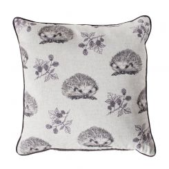 Pavilion Chic Cushion Hedgehog and Blackberry in Plum