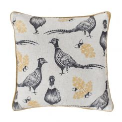 Pavilion Chic Cushion Pheasant and Acorn Woodland
