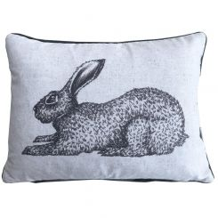 Pavilion Chic Cushion Rabbit Sketch