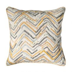 Pavilion Chic Cushion Tangier Hand Embellished in Ochre
