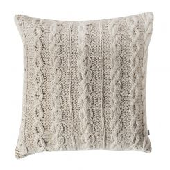 Pavilion Chic Cable Knit Cushion Santo in Cream