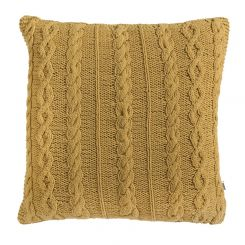 Pavilion Chic Cable Knit Cushion Santo in Yellow