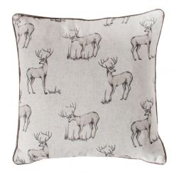 Pavilion Chic Cushion with Stag Stanley in Natural