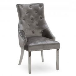 Pavilion Chic Belvedere Knockerback Dining Chair in Pewter
