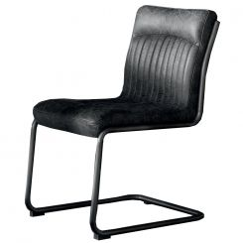 Pavilion Chic Dining Chair Cucuta Antique Ebony Leather