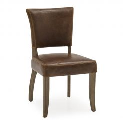 Pavilion Chic Dining Chair Duke in Bi-cast Leather