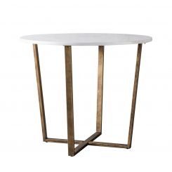 Pavilion Chic Dining Table Charlbury in White Marble