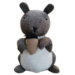 Pavilion Chic Doorstop Squirrel with Nut Pine
