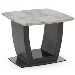 Pavilion Chic End Table Luciana in White Marble