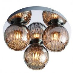 Pavilion Chic Flush Ceiling Light Ambrose Glass