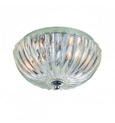 Pavilion Chic Flush Ceiling Light Alecto Fluted Glass