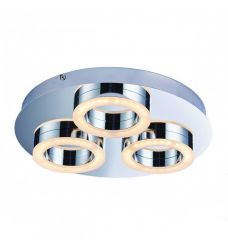 Pavilion Chic Flush Ceiling Light Maeja in Silver