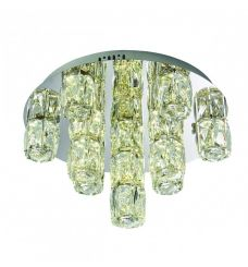 Pavilion Chic Flush Ceiling Light Princeton in Crystal Glass