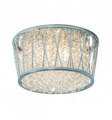 Pavilion Chic Flush Ceiling Light Sophia Crystal Silver
