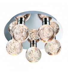 Pavilion Chic Flush Ceiling Light Appollo with Crystal Balls