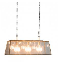 Pavilion Chic Bar Pendant Light Selen Glass Frame