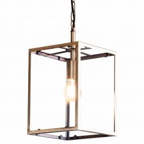 Pavilion Chic Pendant Light Wilton Square Glass Frame